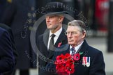 Remembrance Sunday at the Cenotaph in London 2014: The representative of the Royal Navy Association. Press stand opposite the Foreign Office building, Whitehall, London SW1, London, Greater London, United Kingdom, on 09 November 2014 at 11:26, image #307