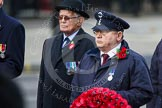 Remembrance Sunday at the Cenotaph in London 2014: The representative of Transport for London with his wreath. Press stand opposite the Foreign Office building, Whitehall, London SW1, London, Greater London, United Kingdom, on 09 November 2014 at 11:26, image #309