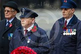 Remembrance Sunday at the Cenotaph in London 2014: The representative of Transport for London with his wreath. Press stand opposite the Foreign Office building, Whitehall, London SW1, London, Greater London, United Kingdom, on 09 November 2014 at 11:26, image #310