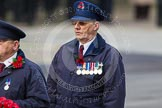 Remembrance Sunday at the Cenotaph in London 2014: Another representative of Transport for London. Press stand opposite the Foreign Office building, Whitehall, London SW1, London, Greater London, United Kingdom, on 09 November 2014 at 11:26, image #311