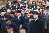 Remembrance Sunday at the Cenotaph 2015: Over 10.000 Veterans waiting for the begin of the March Past. Cenotaph, Whitehall, London SW1, London, Greater London, United Kingdom, on 08 November 2015 at 11:23, image #5