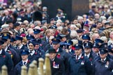 Remembrance Sunday at the Cenotaph 2015: Over 10.000 Veterans waiting for the begin of the March Past, in front the TFL group. Cenotaph, Whitehall, London SW1, London, Greater London, United Kingdom, on 08 November 2015 at 11:26, image #6