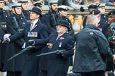 Remembrance Sunday at the Cenotaph 2015: Group B3, 3rd Regiment Royal Horse Artillery Association. Cenotaph, Whitehall, London SW1, London, Greater London, United Kingdom, on 08 November 2015 at 11:36, image #23