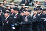 Remembrance Sunday at the Cenotaph 2015: Group B3, 3rd Regiment Royal Horse Artillery Association. Cenotaph, Whitehall, London SW1, London, Greater London, United Kingdom, on 08 November 2015 at 11:36, image #28