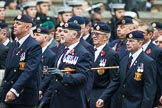 Remembrance Sunday at the Cenotaph 2015: Group B6, Royal Engineers Bomb Disposal Association (Anniversary). Cenotaph, Whitehall, London SW1, London, Greater London, United Kingdom, on 08 November 2015 at 11:37, image #49