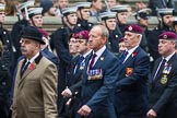 Remembrance Sunday at the Cenotaph 2015: Group B7, Airborne Engineers Association. Cenotaph, Whitehall, London SW1, London, Greater London, United Kingdom, on 08 November 2015 at 11:37, image #55