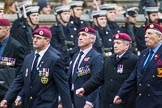 Remembrance Sunday at the Cenotaph 2015: Group B7, Airborne Engineers Association. Cenotaph, Whitehall, London SW1, London, Greater London, United Kingdom, on 08 November 2015 at 11:37, image #58