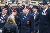 Remembrance Sunday at the Cenotaph 2015: Group B7, Airborne Engineers Association. Cenotaph, Whitehall, London SW1, London, Greater London, United Kingdom, on 08 November 2015 at 11:37, image #59