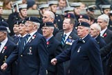 Remembrance Sunday at the Cenotaph 2015: Group B8, Royal Signals Association. Cenotaph, Whitehall, London SW1, London, Greater London, United Kingdom, on 08 November 2015 at 11:37, image #64