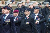 Remembrance Sunday at the Cenotaph 2015: Group B8, Royal Signals Association. Cenotaph, Whitehall, London SW1, London, Greater London, United Kingdom, on 08 November 2015 at 11:37, image #67