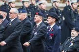 Remembrance Sunday at the Cenotaph 2015: Group B11, RAOC Association. Cenotaph, Whitehall, London SW1, London, Greater London, United Kingdom, on 08 November 2015 at 11:38, image #93