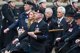 Remembrance Sunday at the Cenotaph 2015: Group B12, Army Catering Corps Association. Cenotaph, Whitehall, London SW1, London, Greater London, United Kingdom, on 08 November 2015 at 11:38, image #95