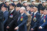 Remembrance Sunday at the Cenotaph 2015: Group B12, Army Catering Corps Association. Cenotaph, Whitehall, London SW1, London, Greater London, United Kingdom, on 08 November 2015 at 11:38, image #100