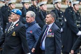 Remembrance Sunday at the Cenotaph 2015: Group B12, Army Catering Corps Association. Cenotaph, Whitehall, London SW1, London, Greater London, United Kingdom, on 08 November 2015 at 11:38, image #102