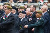 Remembrance Sunday at the Cenotaph 2015: Group B13, Royal Pioneer Corps Association (Anniversary). Cenotaph, Whitehall, London SW1, London, Greater London, United Kingdom, on 08 November 2015 at 11:39, image #107