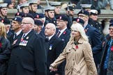 Remembrance Sunday at the Cenotaph 2015: Group B15, Royal Electrical & Mechanical Engineers Association. Cenotaph, Whitehall, London SW1, London, Greater London, United Kingdom, on 08 November 2015 at 11:39, image #126
