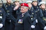 Remembrance Sunday at the Cenotaph 2015: Group B16, Royal Military Police Association. Cenotaph, Whitehall, London SW1, London, Greater London, United Kingdom, on 08 November 2015 at 11:39, image #130