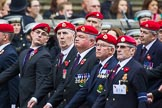 Remembrance Sunday at the Cenotaph 2015: Group B16, Royal Military Police Association. Cenotaph, Whitehall, London SW1, London, Greater London, United Kingdom, on 08 November 2015 at 11:40, image #132
