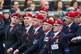 Remembrance Sunday at the Cenotaph 2015: Group B16, Royal Military Police Association. Cenotaph, Whitehall, London SW1, London, Greater London, United Kingdom, on 08 November 2015 at 11:40, image #133