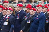 Remembrance Sunday at the Cenotaph 2015: Group B16, Royal Military Police Association. Cenotaph, Whitehall, London SW1, London, Greater London, United Kingdom, on 08 November 2015 at 11:40, image #134