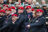 Remembrance Sunday at the Cenotaph 2015: Group B16, Royal Military Police Association. Cenotaph, Whitehall, London SW1, London, Greater London, United Kingdom, on 08 November 2015 at 11:40, image #135