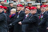 Remembrance Sunday at the Cenotaph 2015: Group B16, Royal Military Police Association. Cenotaph, Whitehall, London SW1, London, Greater London, United Kingdom, on 08 November 2015 at 11:40, image #136