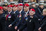Remembrance Sunday at the Cenotaph 2015: Group B16, Royal Military Police Association. Cenotaph, Whitehall, London SW1, London, Greater London, United Kingdom, on 08 November 2015 at 11:40, image #137