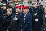 Remembrance Sunday at the Cenotaph 2015: Group B16, Royal Military Police Association. Cenotaph, Whitehall, London SW1, London, Greater London, United Kingdom, on 08 November 2015 at 11:40, image #138