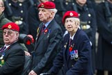 Remembrance Sunday at the Cenotaph 2015: Group B16, Royal Military Police Association. Cenotaph, Whitehall, London SW1, London, Greater London, United Kingdom, on 08 November 2015 at 11:40, image #139