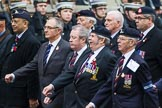 Remembrance Sunday at the Cenotaph 2015: Group B18, Royal Army Pay Corps Regimental Association. Cenotaph, Whitehall, London SW1, London, Greater London, United Kingdom, on 08 November 2015 at 11:40, image #143