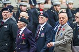 Remembrance Sunday at the Cenotaph 2015: Group B18, Royal Army Pay Corps Regimental Association. Cenotaph, Whitehall, London SW1, London, Greater London, United Kingdom, on 08 November 2015 at 11:40, image #146