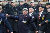 Remembrance Sunday at the Cenotaph 2015: Group B22, Royal Scots Dragoon Guards. Cenotaph, Whitehall, London SW1, London, Greater London, United Kingdom, on 08 November 2015 at 11:40, image #174