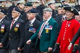Remembrance Sunday at the Cenotaph 2015: Group B23, Royal Scots Dragoon Guards. Cenotaph, Whitehall, London SW1, London, Greater London, United Kingdom, on 08 November 2015 at 11:40, image #176