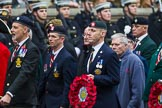 Remembrance Sunday at the Cenotaph 2015: Group B23, Royal Scots Dragoon Guards. Cenotaph, Whitehall, London SW1, London, Greater London, United Kingdom, on 08 November 2015 at 11:40, image #179