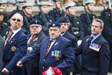 Remembrance Sunday at the Cenotaph 2015: Group B23, Royal Scots Dragoon Guards. Cenotaph, Whitehall, London SW1, London, Greater London, United Kingdom, on 08 November 2015 at 11:41, image #182