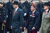Remembrance Sunday at the Cenotaph 2015: Group B24, Queen's Royal Hussars (The Queen's Own & Royal Irish). Cenotaph, Whitehall, London SW1, London, Greater London, United Kingdom, on 08 November 2015 at 11:41, image #184