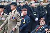 Remembrance Sunday at the Cenotaph 2015: Group B24, Queen's Royal Hussars (The Queen's Own & Royal Irish). Cenotaph, Whitehall, London SW1, London, Greater London, United Kingdom, on 08 November 2015 at 11:41, image #186