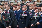 Remembrance Sunday at the Cenotaph 2015: Group B25, Kings Royal Hussars Regimental Association. Cenotaph, Whitehall, London SW1, London, Greater London, United Kingdom, on 08 November 2015 at 11:41, image #188