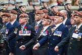 Remembrance Sunday at the Cenotaph 2015: Group B25, Kings Royal Hussars Regimental Association. Cenotaph, Whitehall, London SW1, London, Greater London, United Kingdom, on 08 November 2015 at 11:41, image #189