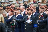 Remembrance Sunday at the Cenotaph 2015: Group B25, Kings Royal Hussars Regimental Association. Cenotaph, Whitehall, London SW1, London, Greater London, United Kingdom, on 08 November 2015 at 11:41, image #190
