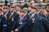 Remembrance Sunday at the Cenotaph 2015: Group B25, Kings Royal Hussars Regimental Association. Cenotaph, Whitehall, London SW1, London, Greater London, United Kingdom, on 08 November 2015 at 11:41, image #191