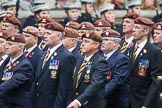Remembrance Sunday at the Cenotaph 2015: Group B25, Kings Royal Hussars Regimental Association. Cenotaph, Whitehall, London SW1, London, Greater London, United Kingdom, on 08 November 2015 at 11:41, image #192