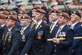 Remembrance Sunday at the Cenotaph 2015: Group B25, Kings Royal Hussars Regimental Association. Cenotaph, Whitehall, London SW1, London, Greater London, United Kingdom, on 08 November 2015 at 11:41, image #193