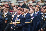 Remembrance Sunday at the Cenotaph 2015: Group B25, Kings Royal Hussars Regimental Association. Cenotaph, Whitehall, London SW1, London, Greater London, United Kingdom, on 08 November 2015 at 11:41, image #194