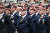 Remembrance Sunday at the Cenotaph 2015: Group B25, Kings Royal Hussars Regimental Association. Cenotaph, Whitehall, London SW1, London, Greater London, United Kingdom, on 08 November 2015 at 11:41, image #197