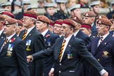 Remembrance Sunday at the Cenotaph 2015: Group B25, Kings Royal Hussars Regimental Association. Cenotaph, Whitehall, London SW1, London, Greater London, United Kingdom, on 08 November 2015 at 11:41, image #199
