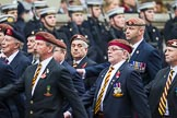 Remembrance Sunday at the Cenotaph 2015: Group B25, Kings Royal Hussars Regimental Association. Cenotaph, Whitehall, London SW1, London, Greater London, United Kingdom, on 08 November 2015 at 11:41, image #203