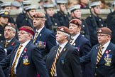 Remembrance Sunday at the Cenotaph 2015: Group B25, Kings Royal Hussars Regimental Association. Cenotaph, Whitehall, London SW1, London, Greater London, United Kingdom, on 08 November 2015 at 11:41, image #204