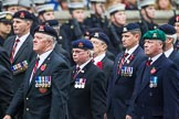 Remembrance Sunday at the Cenotaph 2015: Group B26, 16/5th Queen's Royal Lancers. Cenotaph, Whitehall, London SW1, London, Greater London, United Kingdom, on 08 November 2015 at 11:41, image #208