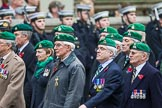 Remembrance Sunday at the Cenotaph 2015: Group B36, Intelligence Corps Association. Cenotaph, Whitehall, London SW1, London, Greater London, United Kingdom, on 08 November 2015 at 11:43, image #273